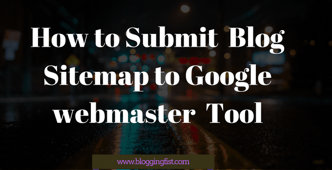 Submit blog Sitemap to Google Search Console