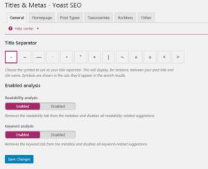 Title & Meta Yoast plugin