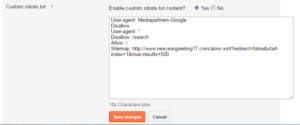 custom robots.txt File to blogger blog