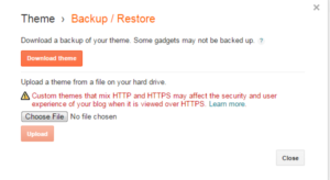 Blogger blog Backup and Restore