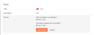 Index your blog in search engines