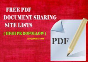 High Pr Dofollow Document Sharing Sites List