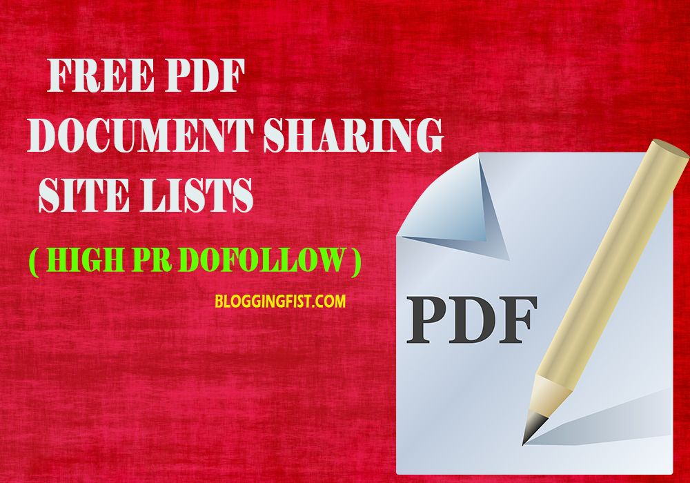 High Pr Dofollow Document Sharing Sites List