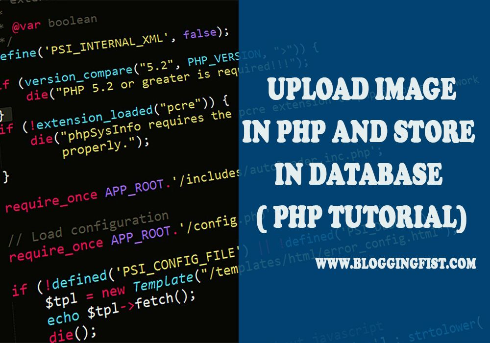 How To Upload Image In PHP And Store In Database