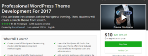 WordPress theme development on udemy