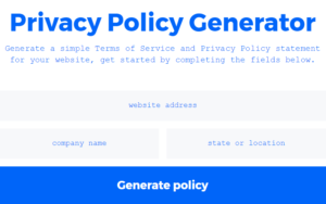 Create A Privacy Policy Page for your blog