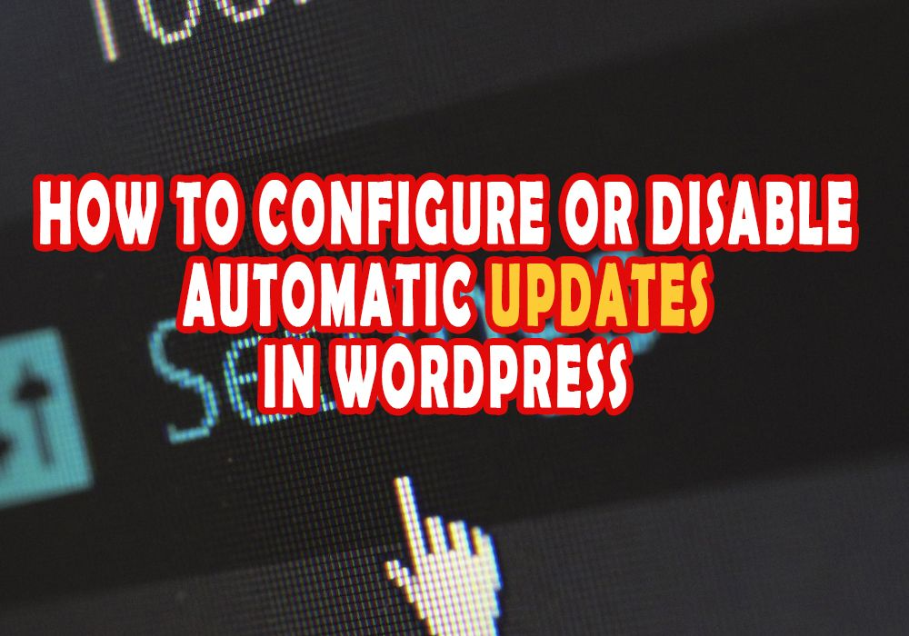 How to Configure or Disable Automatic Updates in WordPress