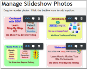 Linking Slideshow and Gallery Images