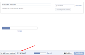 How to upload HD photos to Facebook form PC Desktop