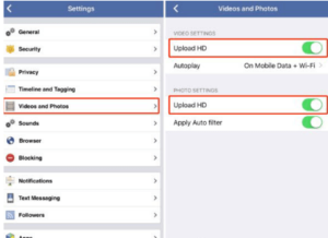 How to upload HD photos to facebook from IOS