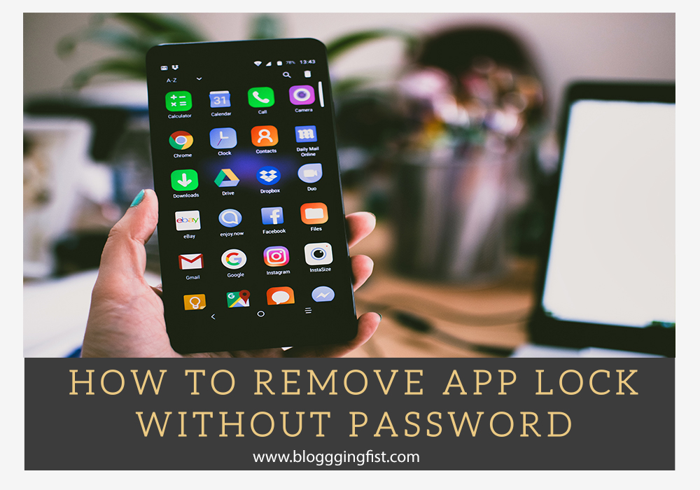 remove applock without password