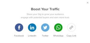 Share gigs On Social Media