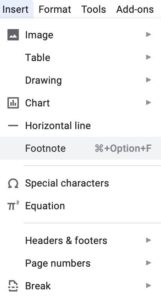 How To Add Footnotes In Google Docs documents
