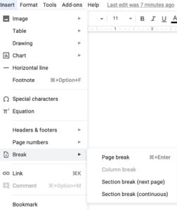 How To Create Sections In Google Docs