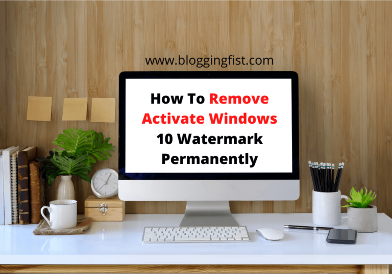 How To Remove Activate Windows 10 Watermark Permanently 2020