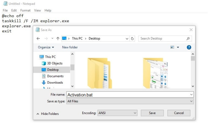 Make Document File and Run as Administrator