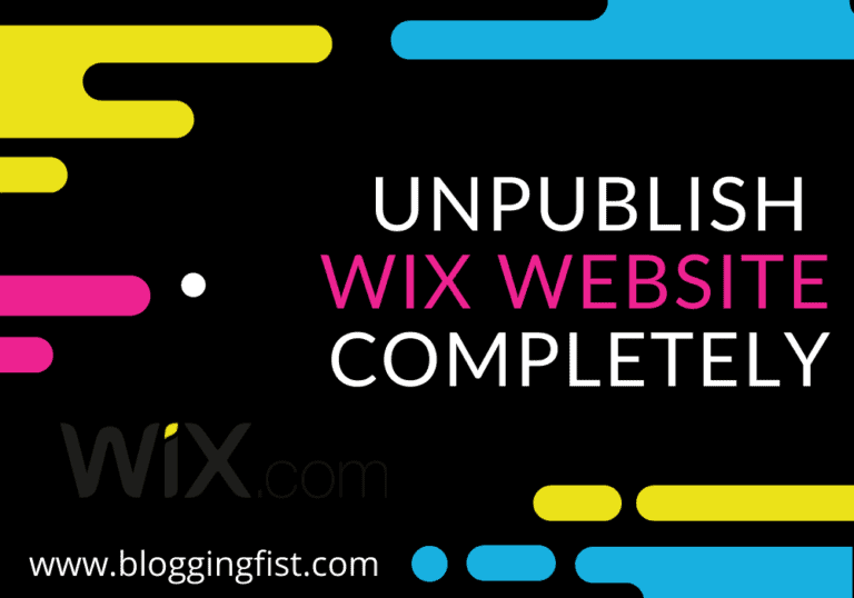 Unpublish Wix Site : How To Delete or Unpublish Wix Website Completely