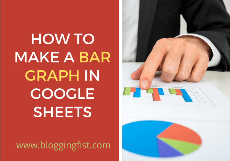 How To Make A Bar Graph In Google Sheets Step by Step