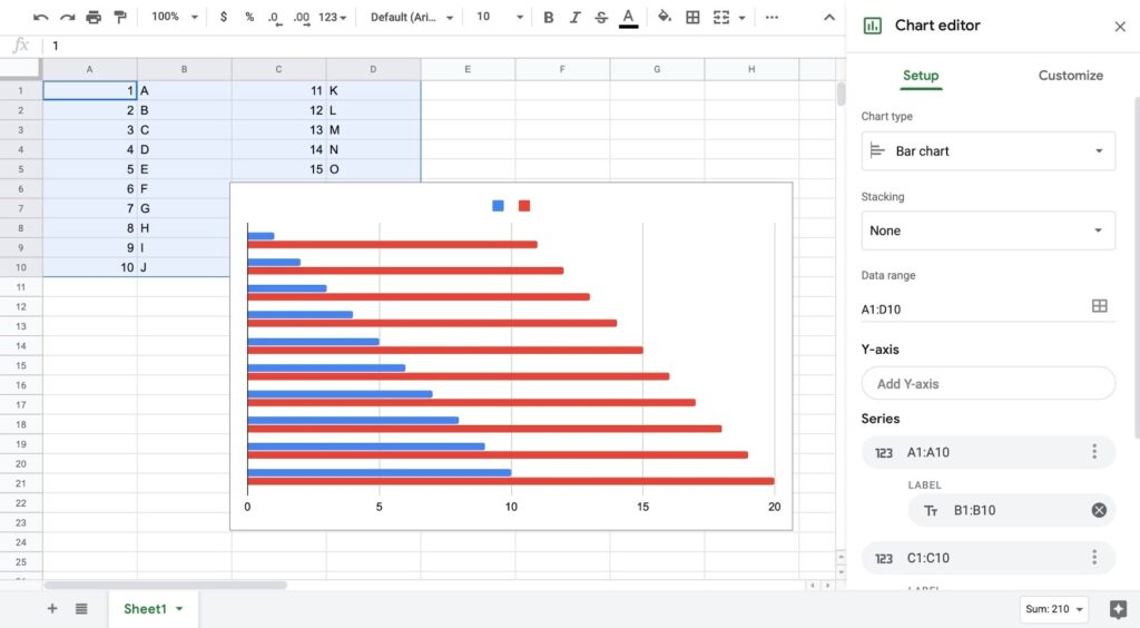 How To Make A Double Bar Graph In Google Sheets