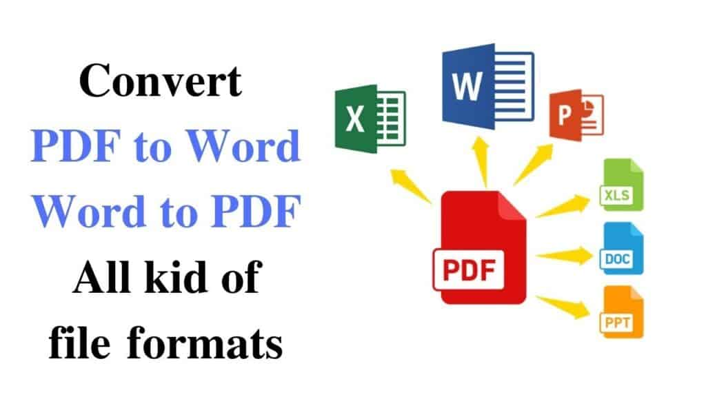 How To Convert Your PDF To Other Formats